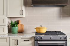A classic subway tile is the perfect look to keep your kitchen fresh and timeless.