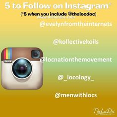 Here is this week's   to follow (besides @thelocdoc ) on Instagram. We hope you  these Instagramers too.    @evelynfromtheinternets  @kollectivekoils  @locnationthemovement  @_locology_  @menwithlocs  #loccommunity #locd #loctician #womenwithlocs #MenWithLocs #positivevibes #embraceyourjourney #thelocdoc #thelocdcommunity #starterlocs #teamnatural #teamlocs #teamdreads #austinnaturals  #lifeisbeautiful #kidswithlocs #starterlocs #austinlocstylist #dreadnation #locnation #loclife #locdoc…