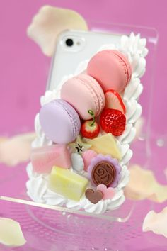 Sweets deco iPhone 4 and 4s case  iPhone5 by DolceDecoShop on Etsy, ¥7000