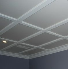 Dropped ceiling - a little like coffer ceiling