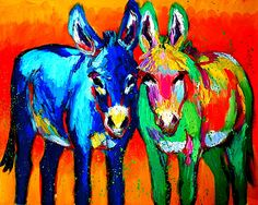 I love Barbara Meikle's work. Mix and Match oil painting