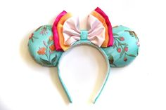Giselle Couture Ears | Etsy Rifle Paper Co, Mickey Ears, Fabric Covered, Live For Yourself, Headbands, Stuffing, High Speed, Stability, Couture