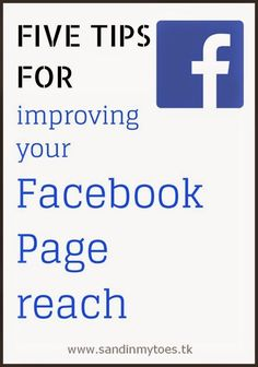 If you have a new or small Facebook Page for your blog, check out my five tips for improving your reach. business ideas #smallbusiness small business ideas wahm ideas