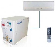 Airwell GCAO9N/AWSI/HHF009/N11 climatiseur mono split mural  /  Solution intérieure idéale quand la structure du batîment ou des raisons esthétiques empêchent l'installation d'une unité extérieure à condensation à air. - Vanne de régulation modulante permettant de réduire la consommation d'eau. - Pressostat haute pression à réarmement manuel. - Super silencieux. - Connexion à des systèmes d'eau recyclée ou perdue.