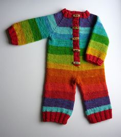 Custom romper, overalls, coveralls, all-in-one or hoodie, hooded cardigan, sleep sack, sleeping bag, dress - 3 months to 2-3T. So cute. And no way in this world that I'm going to knit this myself, so I'll have to order one for Helena