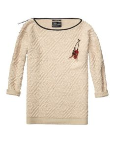 Oversize Fit Long Sweater by Scotch and Soda