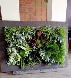 Świąteczne Atelier - Obraz ze sztucznych roślin z sukulentami i szałwią House Plants, Deck, Floral, Wall, Shop, Atelier, Indoor House Plants, Front Porches, Flowers