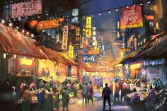 ArtStation - Night market, Ivan 小红花