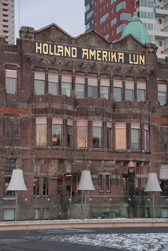 "The Holland America Line building in Rotterdam.  We left on the ""Volendam"" for Australia in 1948.  The building is now the New York Hotel and has been preserved as a monument for all those who immigrated from the Netherlands."