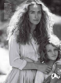 "Tatjana Patitz "" The Great Escape"" by Peter Lindbergh - Vogue US August 2012."