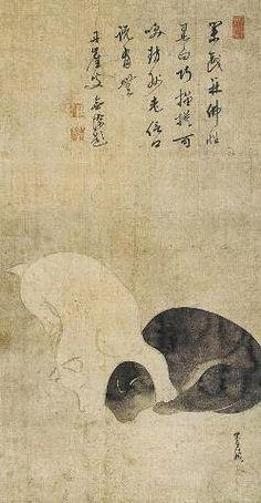 俵屋宗達 「双犬図」Tawaraya Sotatsu