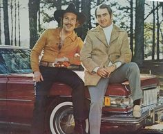 Hank Jr & his manager, James R. Smith in 1975