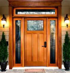 Are you looking for the best wooden doors for your home that suits perfectly? Then come and see our new content Wooden Main Door Design Ideas. Craftsman Front Doors, Wood Front Doors, Wooden Doors, Wooden Front Door Design, Modern Front Door, Front Entry, Entry Door With Sidelights, Entry Doors, Patio Doors