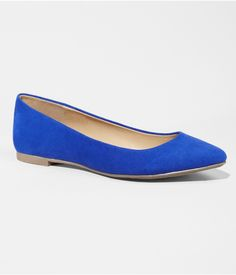 Express pointed flat in Blue