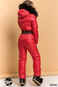 Down Suit, Winter Suit, Skiing, Overalls, Winter Fashion, Leather Pants, Sexy Women, Jackets For Women, Suits