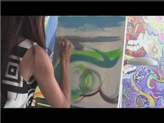 Painting With Acrylics : How to Use Acrylic Paint on Canvas