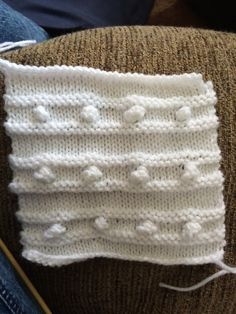 Ridged Stripes with Bobbles Square - 6th square for The Art of Knitting's throw