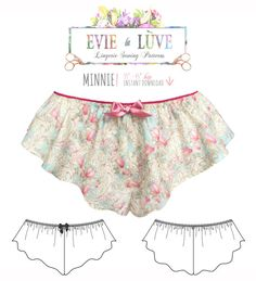Minnie Flared Tap Pants lingerie Sewing Pattern by EvielaLuveDIY