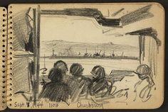 Arrival at Cherbourg, France, September 7, 1944