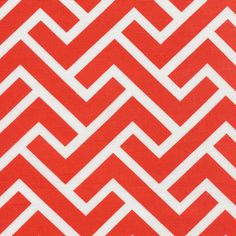 ZigZag | Coral from GeoCentric Canvas by Michelle Engel Bencsko for Cloud9 Fabrics