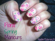 Floral Spring Nail Tutorial