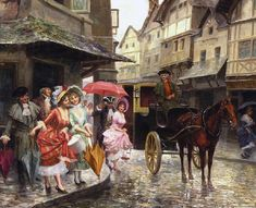 Buy online, view images and see past prices for MARIANO ALONSO-PÉREZ VILLAGROSA Invaluable is the world's largest marketplace for art, antiques, and collectibles. Walking In The Rain, Spanish Painters, Medieval Life, Artist Biography, Alonso, Paintings I Love, Oil Paintings, Art Auction, Artist Art