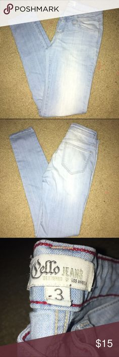 Light wash skinny jeans Gently worn a few times. They no longer fit me so that's why I'm selling. No flaws or defects Love Culture Pants Skinny