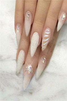 False nails have the advantage of offering a manicure worthy of the most advanced backstage and to hold longer than a simple nail polish. The problem is how to remove them without damaging your nails. Marriage is one of the… Continue Reading → Unicorn Nails Designs, Unicorn Nail Art, Cute Nails, Pretty Nails, My Nails, Stiletto Nail Art, Gel Nail Art, Acrylic Nails, Coffin Nails