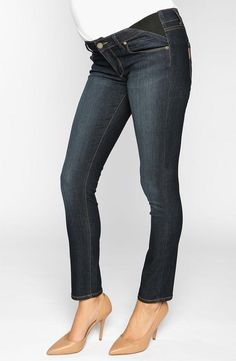 Cute! Maternity ankle skinny jeans