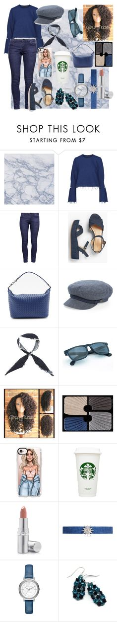 """Denim City Bi*ch (😂)"" by shinigamiusagi ❤ liked on Polyvore featuring Mother of Pearl, Talbots, Bottega Veneta, Brixton, donni charm, Sisley, Casetify, La Prairie, Kenneth Jay Lane and Michael Kors"