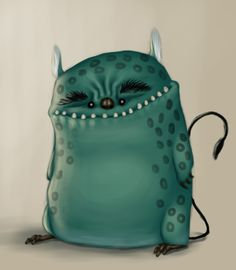 Creepy Cute green monster by K-Bladin
