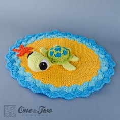 Bob The Turtle Lovey Security Blanket Crochet Pattern On Crochet Blanket Patterns, Baby Blanket Crochet, Crochet Baby, Crochet Lovey Free Pattern, Crochet Animals, Crochet Toys, Baby Lovey, Baby Set, Lovey Blanket