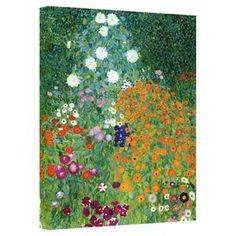 Add gallery-worthy appeal to your walls with this canvas print of Gustav Klimt's Farm Garden. Made in the USA.   Product: Canvas printConstruction Material: Canvas and woodFeatures:  Reproduction of original art by Gustav KlimtMade in the USA