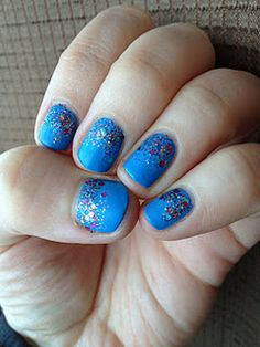Matte glitter ombre nails Manicure, Nails, Hair Makeup, Glitter, Beauty, Beautiful, Nail Manicure, Finger Nails, Ongles