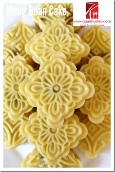Traditional Sesame Mung Bean Cake (古早味麻油绿豆糕)    #guaishushu #kenneth_goh…