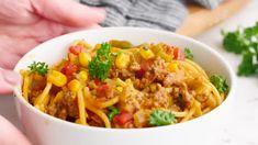 Cowboy Stew - Gonna Want Seconds Chicken Spaghetti, Spaghetti Recipes, Coconut Bars, Coconut Cream, Beefaroni Recipe, Cowboy Stew, Shrimp Enchiladas, American Goulash, Crack Dip