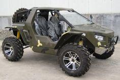 Halo Warthog-like vehicle.  Where do the groceries go?