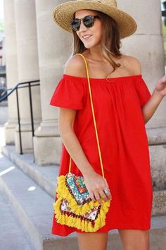 Outfits para la playa Vestido sin hombros Summer Fashion Outfits, Holiday Outfits, Casual Outfits, Casual Chic, Casual Looks, My Style, Womens Fashion, Clothes, Dresses