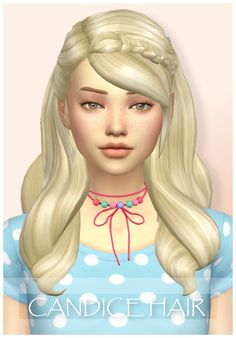 Candice HairI used the barrette overlay by @simlaughlove . You can find it ➪ HERE • BGC • All 18 EA swatches • Tested in game • Teen to elder • Hat compatible • Custom thumbnail • Feel free to recolor...