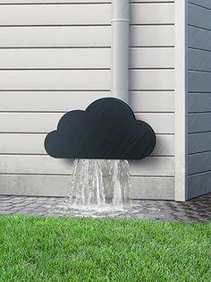 Rain cloud pipe cover.