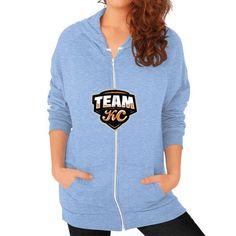 TeamKC Logo Zip Hoodie (on woman) Shirt