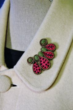 Felt and zipper squiggle brooch ❤ by woollyfabulous on Etsy, $24.00