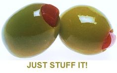 JUST STUFF IT! Fun ideas for unique stuffed olives for your cocktails!