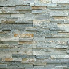 Ocean Mist Natural Stone Veneer Panels - nice for bottom of columns maybe but a little darker combo of colors Stone Veneer Panels, Thin Stone Veneer, Natural Stone Veneer, Natural Stones, Manufactured Stone Veneer, Rock Fireplaces, Indoor Fireplaces, Dental Office Design, Stone Cladding