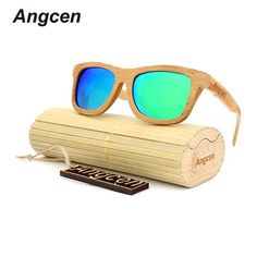 [EBay] Angcen 2017 New Fashion Products Men Women Glass Bamboo Sunglasses Au Retro Vintage Wood Lens Wooden Frame Handmade Za03