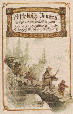 A blank journal from the collection of Sam Gamgee. Illustrated by Michael Green