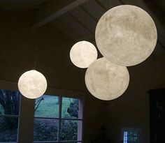 Moon lamps by inesartdesign | Lighting | Home