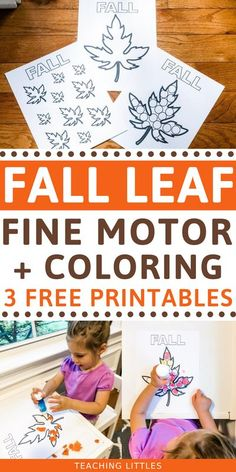 Try this fall activity with your toddler for developing fine motor skills using stickers, crayons, learning colors and counting with these free printables. Indoor Activities For Toddlers, Fun Fall Activities, Motor Activities, Preschool Activities, Learning Colors, Kids Learning, Toddler Crafts, Crafts For Kids, Fine Motor Skills