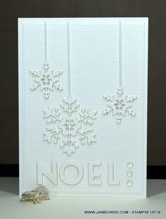 Cas Christmas Cards, Homemade Christmas Cards, Stampin Up Christmas, Holiday Cards, Christmas Holiday, Snowman Cards, Snowflake Cards, Christmas Drawing, Stamping Up Cards