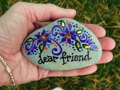 Dear Friend Stone - Painted Rock:  Sandi Pike at Love From Cape Cod on Etsy